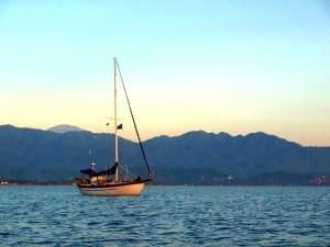 sailboat in beautiful setting