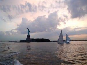 sailing liberty statue