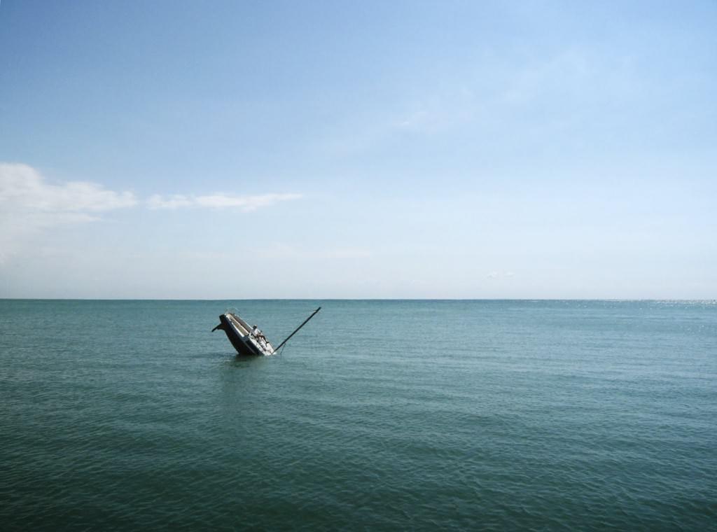 in the open sea