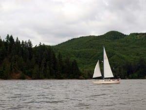 sailboat on columbia
