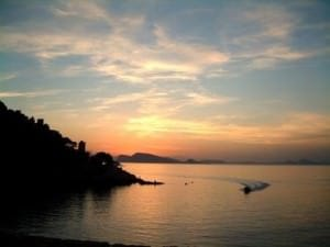 hydra sunset