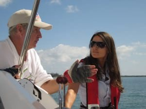on the water sailing lesson