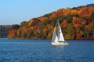 afternoon lake sail