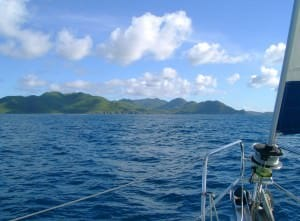 Approaching St. Martin by sail