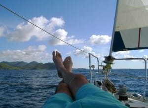 relaxing in st. martin