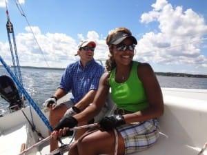 using sailing gloves