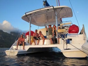 fun on a catamaran