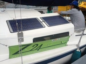 aoki yacht asa solar panels