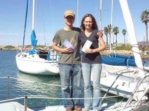 New sailors pose with their ASA 101 certificates in Santa Barbara, CA