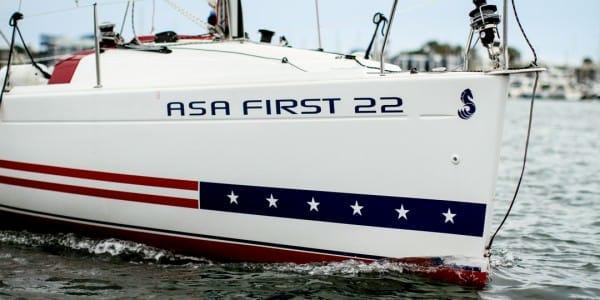 ASA boat bow