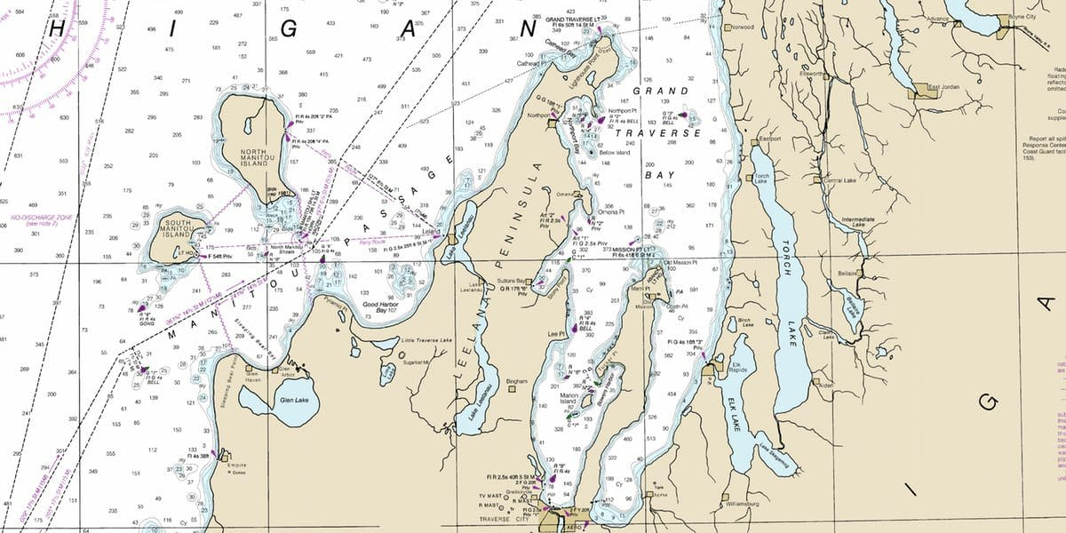 Chart-Grand Traverse Bay