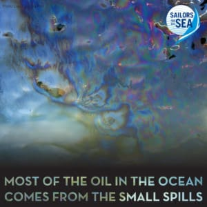 Most of the oil in the ocean comes from the small spills