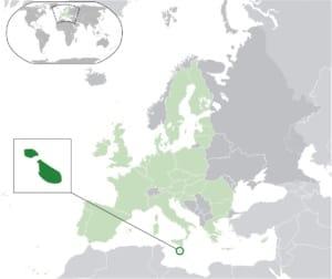 Location of Malta