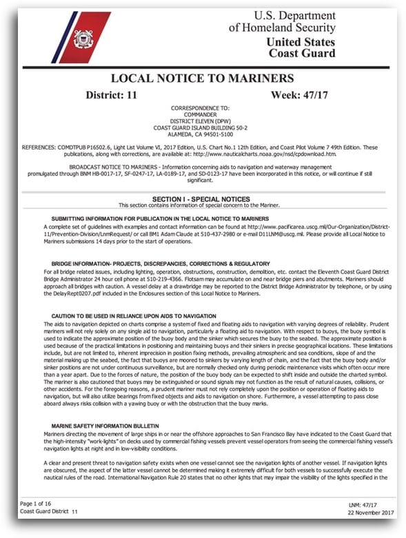 Local Notice to Mariners