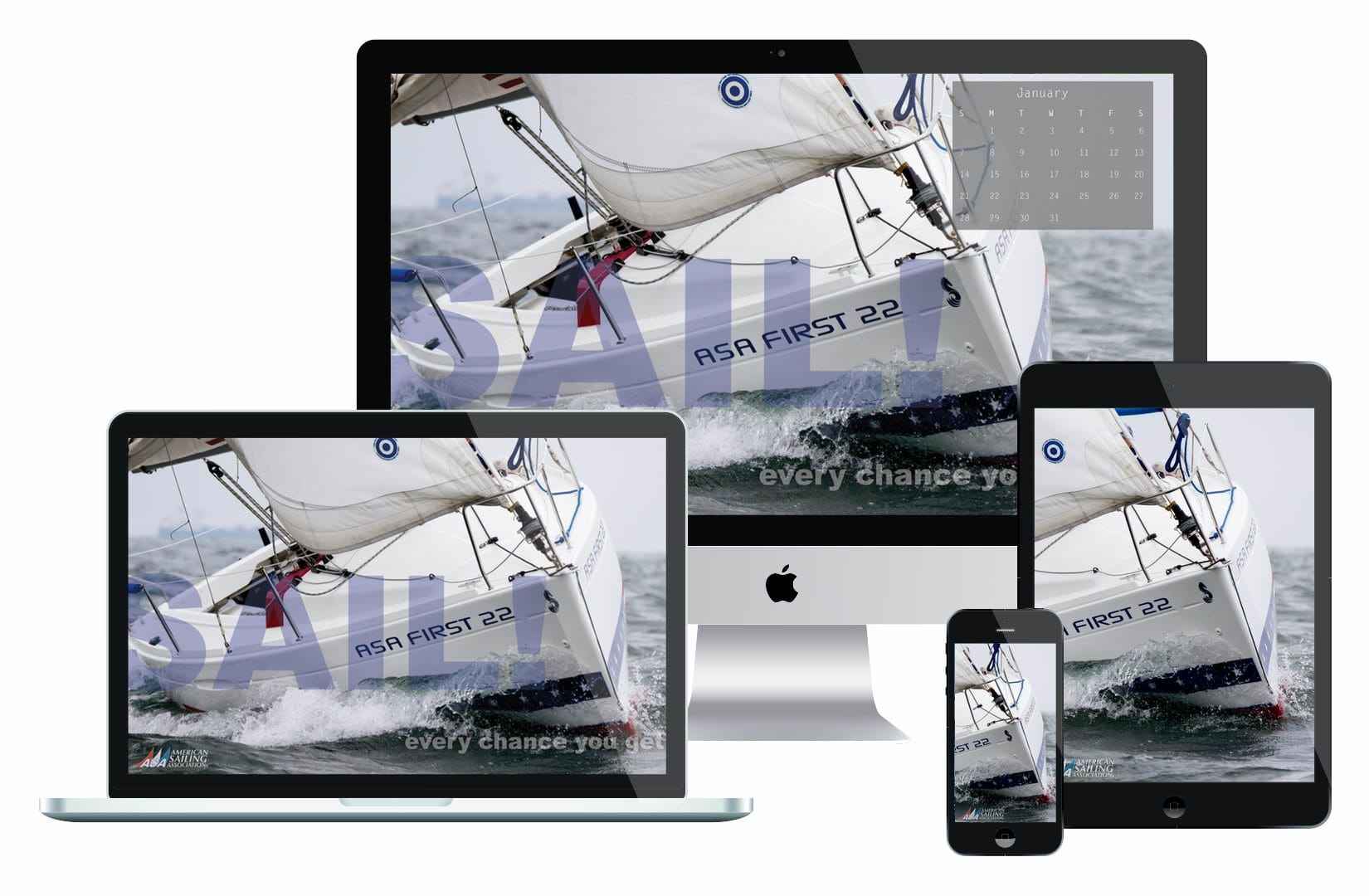 Desktop Wallpaper Sailing Calendar