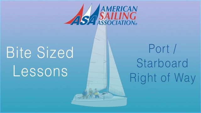 ASA's Bite Sized Lessons : Port/Starboard Right Of Way